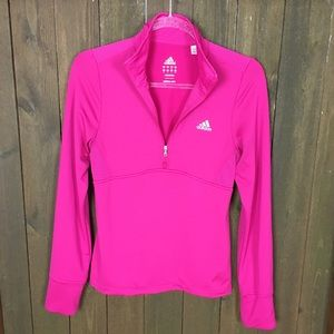 Adidas Women's Hot Pink Climalite Pullover Sz S